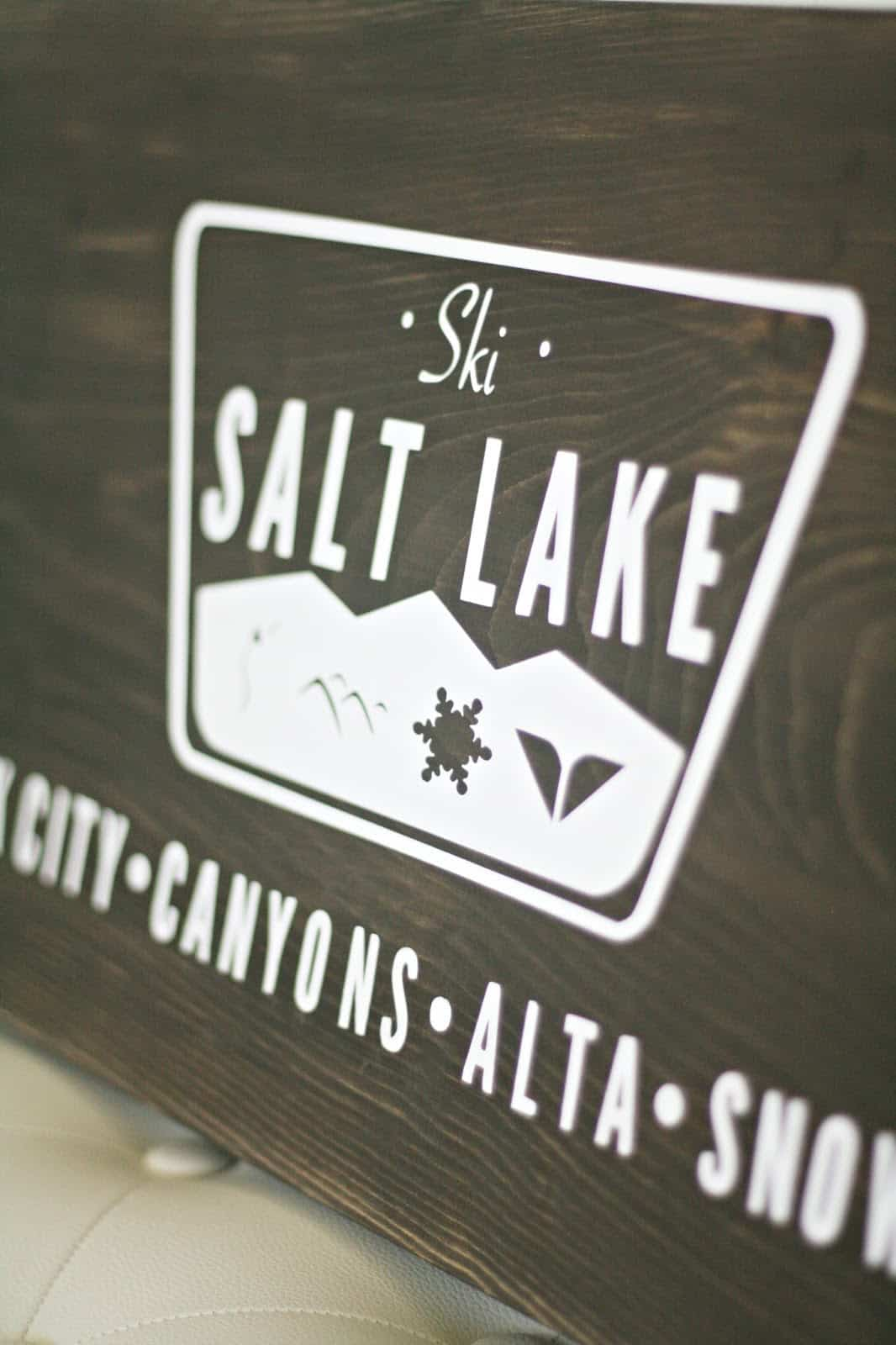 Ski Salt Lake DIY Rustic Sign
