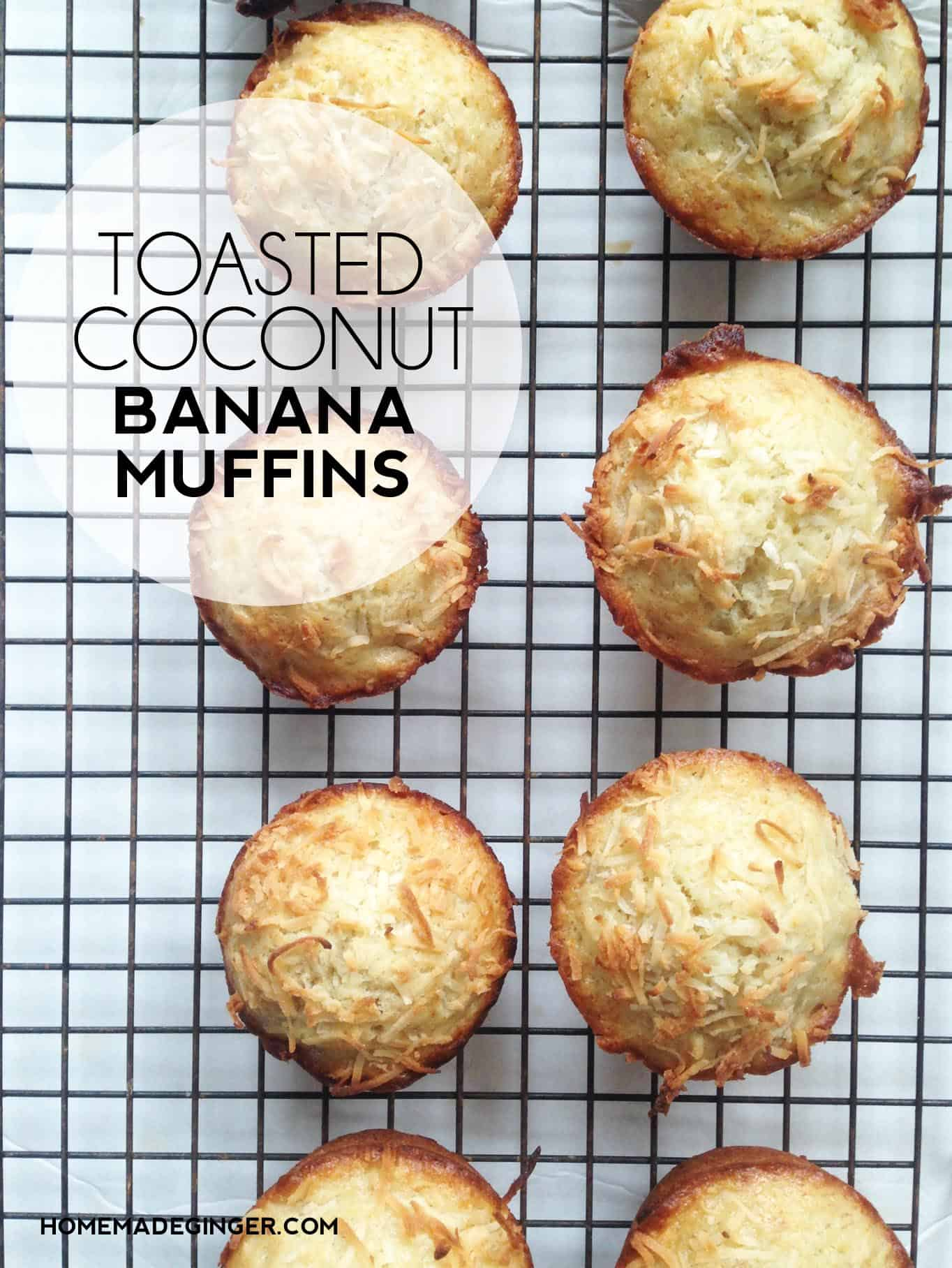 Take plain banana muffins up a few notches with this beyond yummy toasted coconut version. It's so easy to tweak and make to fit your needs!