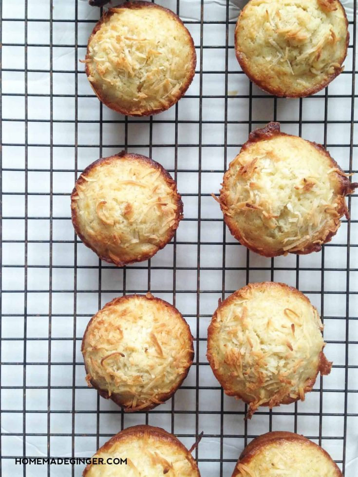 Toasted Coconut Banana Muffins