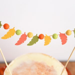 Festive Fall Feather Cake Topper
