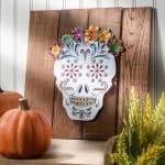 Calavera Pallet Art for Dia de los Muertos