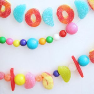 Make a candy garland perfect for the holidays - use to decorate a tree or mantel! These would also be adorable for a child's birthday party.