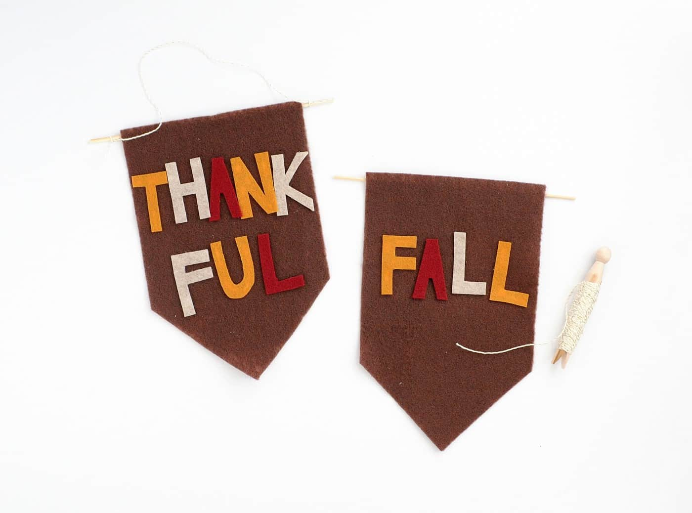 Felt banners are super trendy right now, and the best part is that they're also super easy to make! You'll love the tutorial for these simple fall banners.