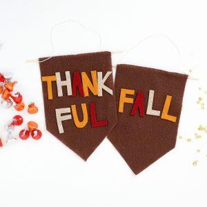 DIY Mini Fall Banners Made from Felt