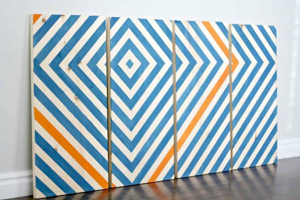 Modern DIY Wooden Wall Art - diycandy.com