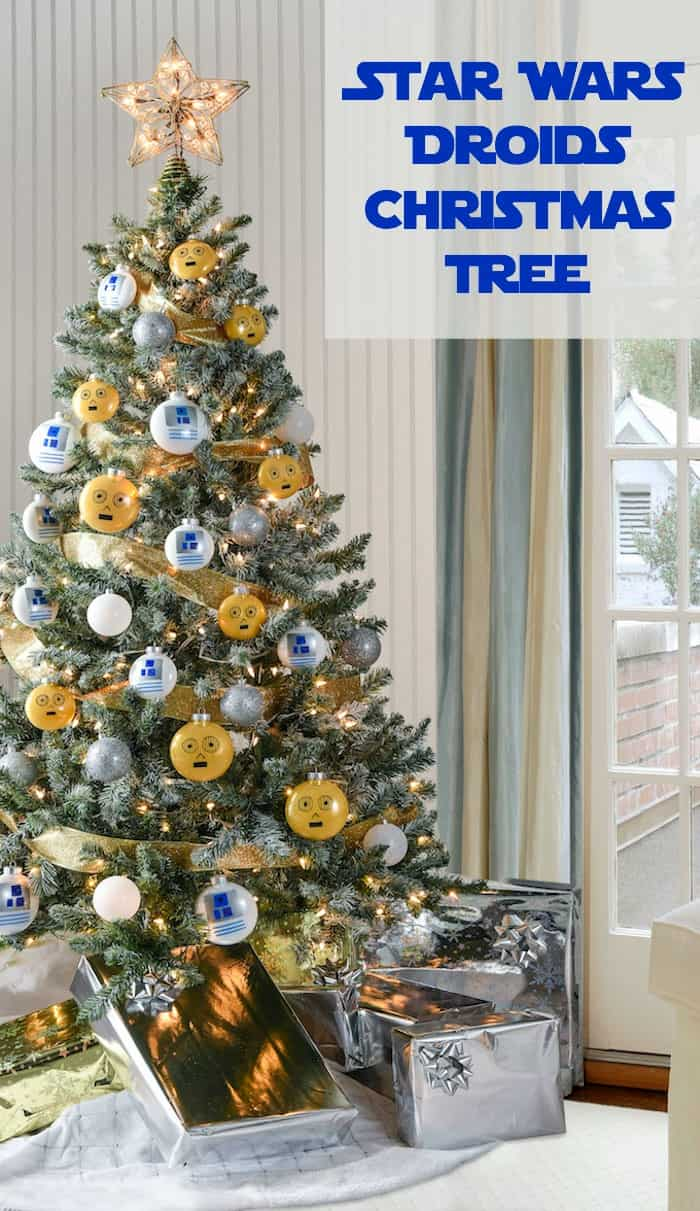 droid themed star wars christmas tree - Star Wars Christmas Decorations