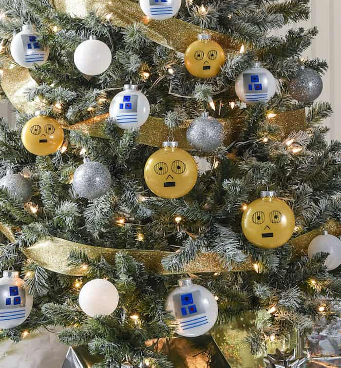rebels will love this droid themed star wars christmas tree - Star Wars Christmas Decorations