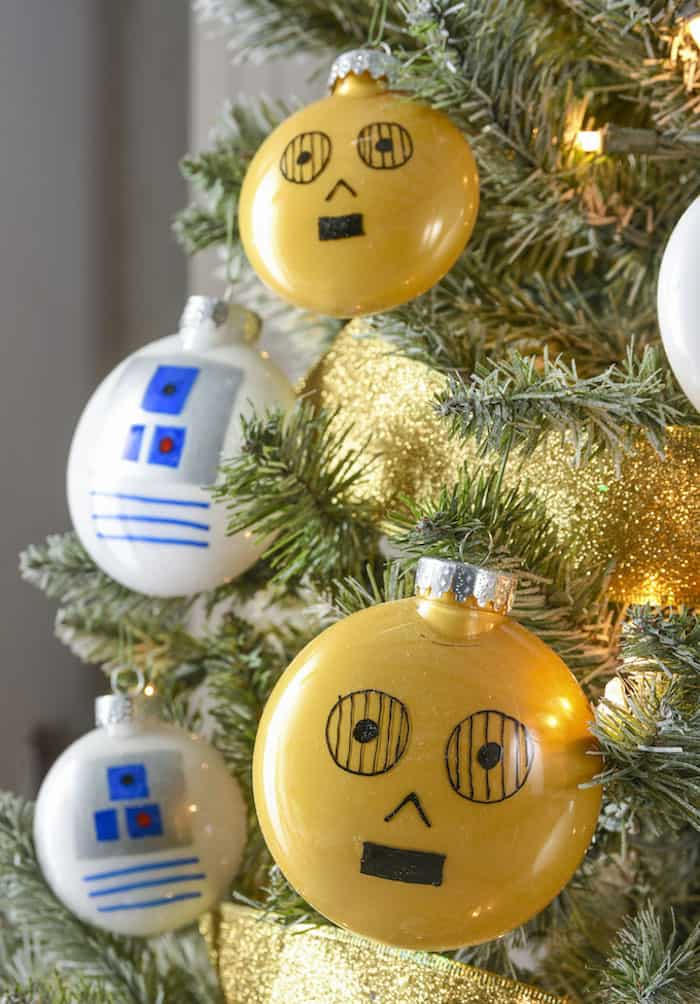 Learn How To Easily Make Rebels Will Love This Droid Themed Star Wars Christmas Tree