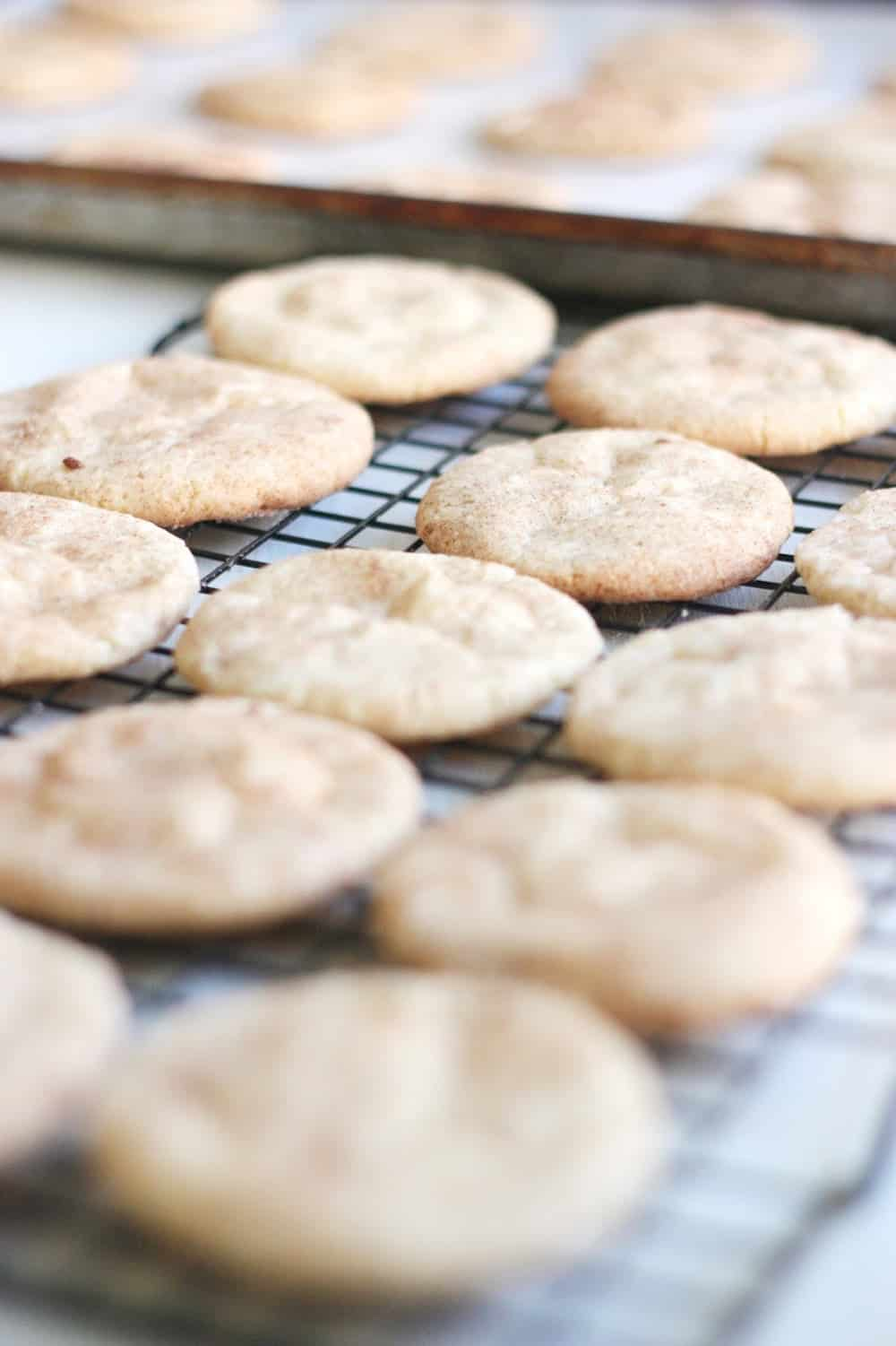 Snickerdoodles are a holiday staple! Here's a way you can take the classic recipe to the next level by adding a little white chocolate and toffee.