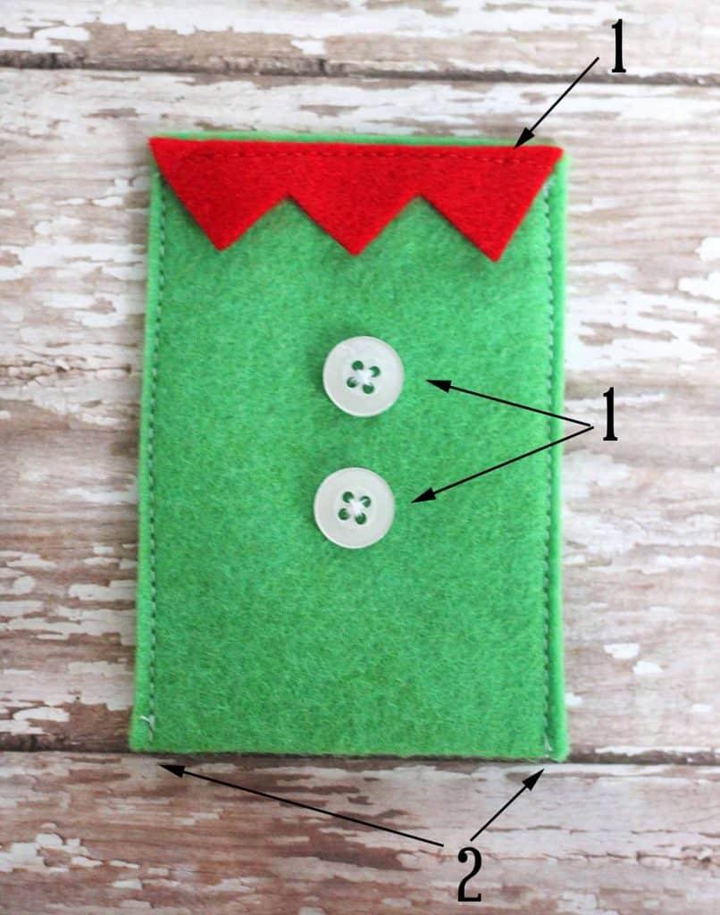 Felt Character Christmas Gift Card Holders - DIY Candy