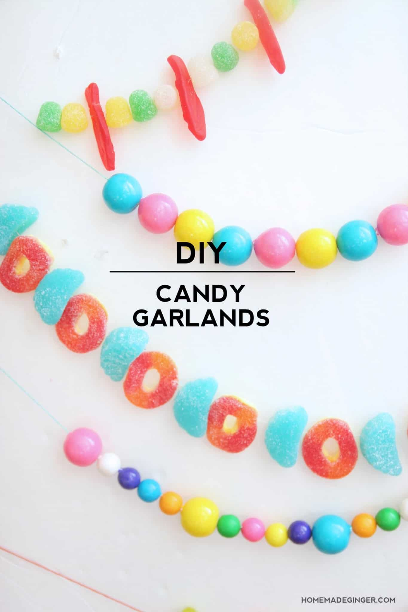 Make a Cute Candy Garland in Three Easy Steps!