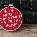 Are you familiar with Home Alone? This DIY ornament is based on the now classic Christmas film! Have fun stitching, and Merry Christmas - ya filthy animal!