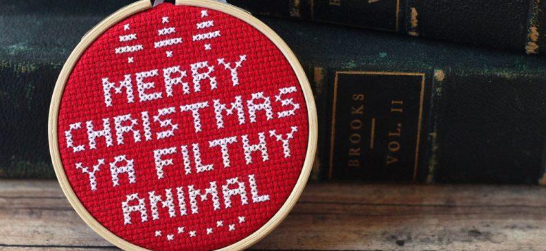 Cross Stitch DIY Christmas Ornament
