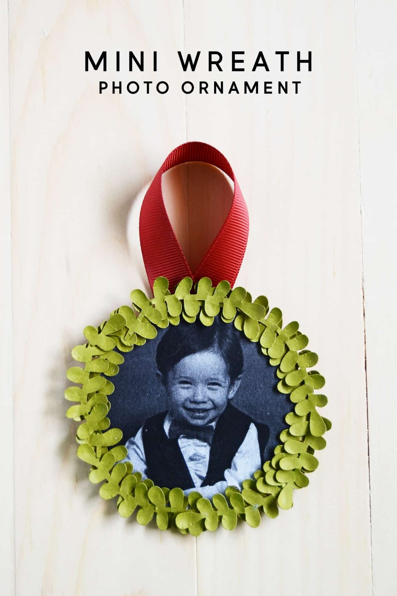 Mini Wreath Photo Ornament Perfect for Your Tree