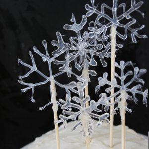 Make a Snowflake Cake Topper