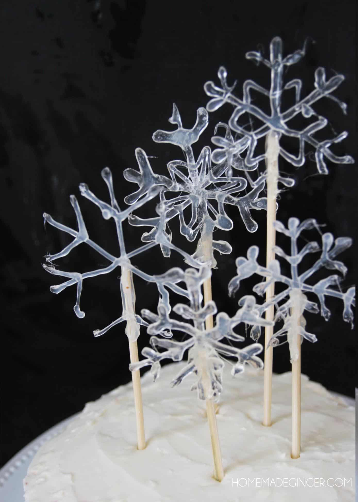 Make A Snowflake Cake Topper Diycandy Com