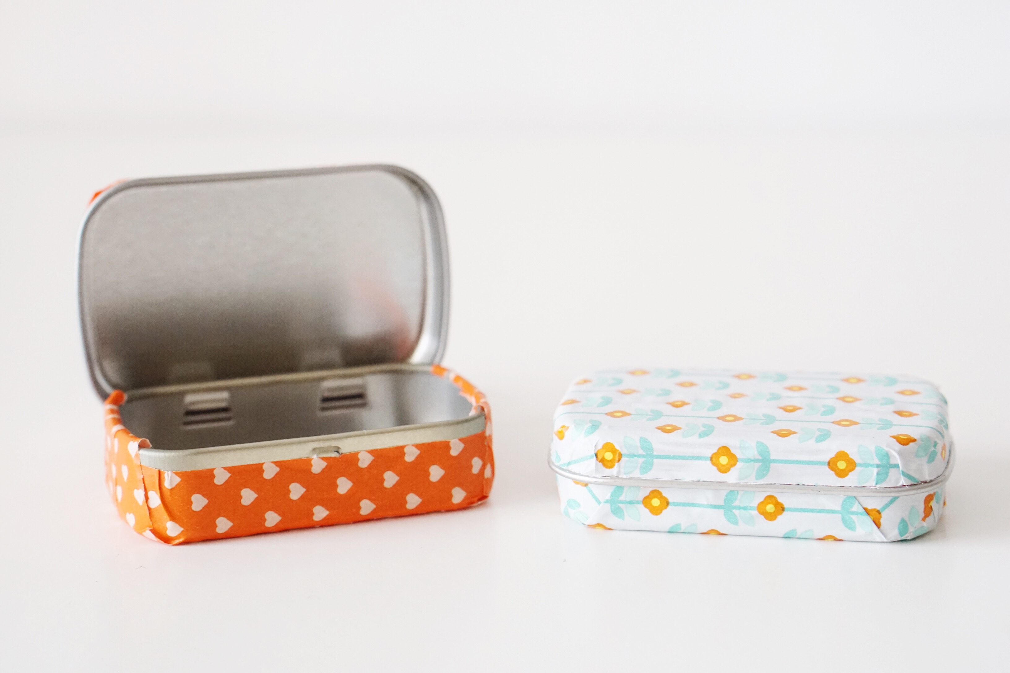 Upcycled Altoids tin with washi tape