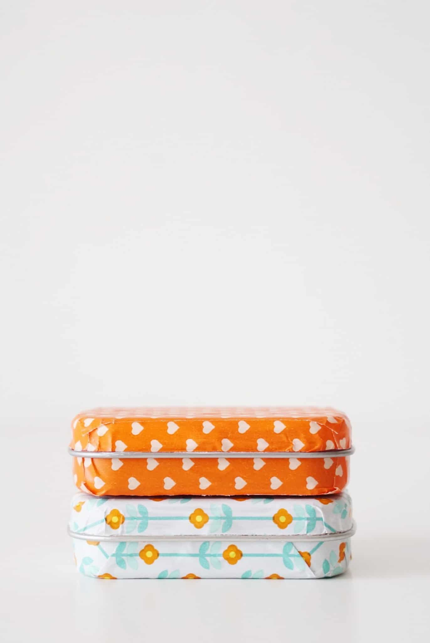 Altoids tin crafts - decorating with washi tape