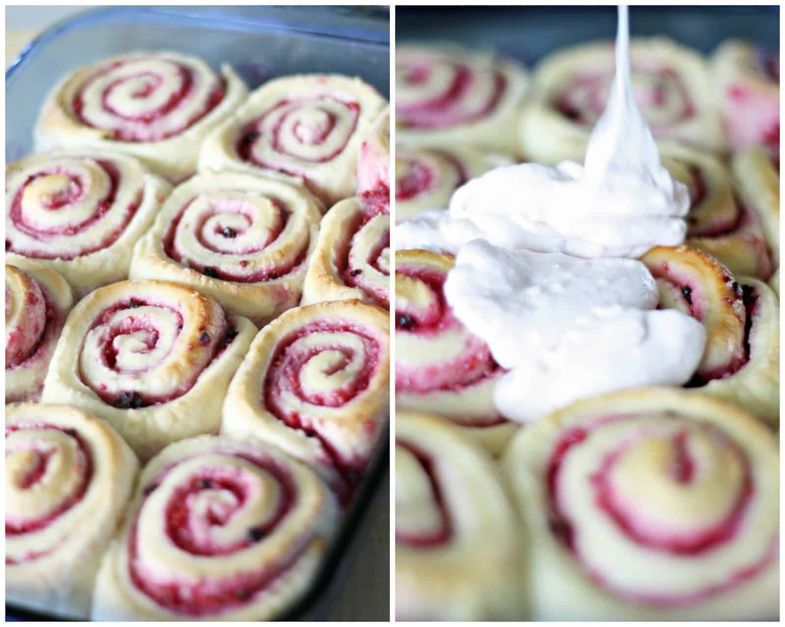 """This delicious sweet rolls recipe is a """"berry good"""" alternative to the traditional cinnamon roll. Add mixed fruit jam to make it extra sweet and yummy!"""