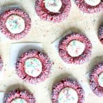 red velvet cookies filled with cream cheese