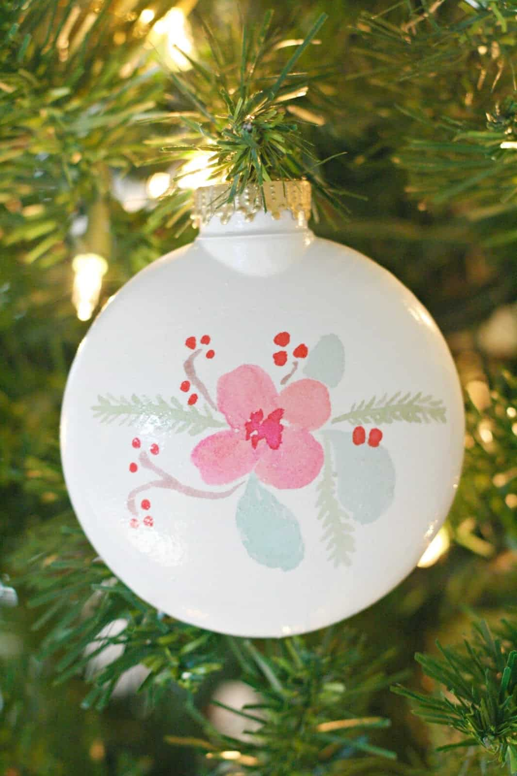 Temporary Tattoo DIY Christmas Ornaments