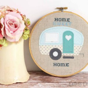Home Sweet Home Camper Embroidery Hoop