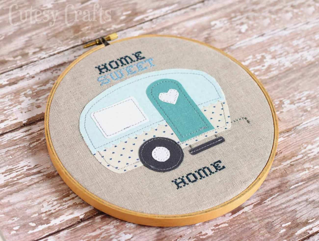 Home Sweet Home Camper Appliqué Pattern