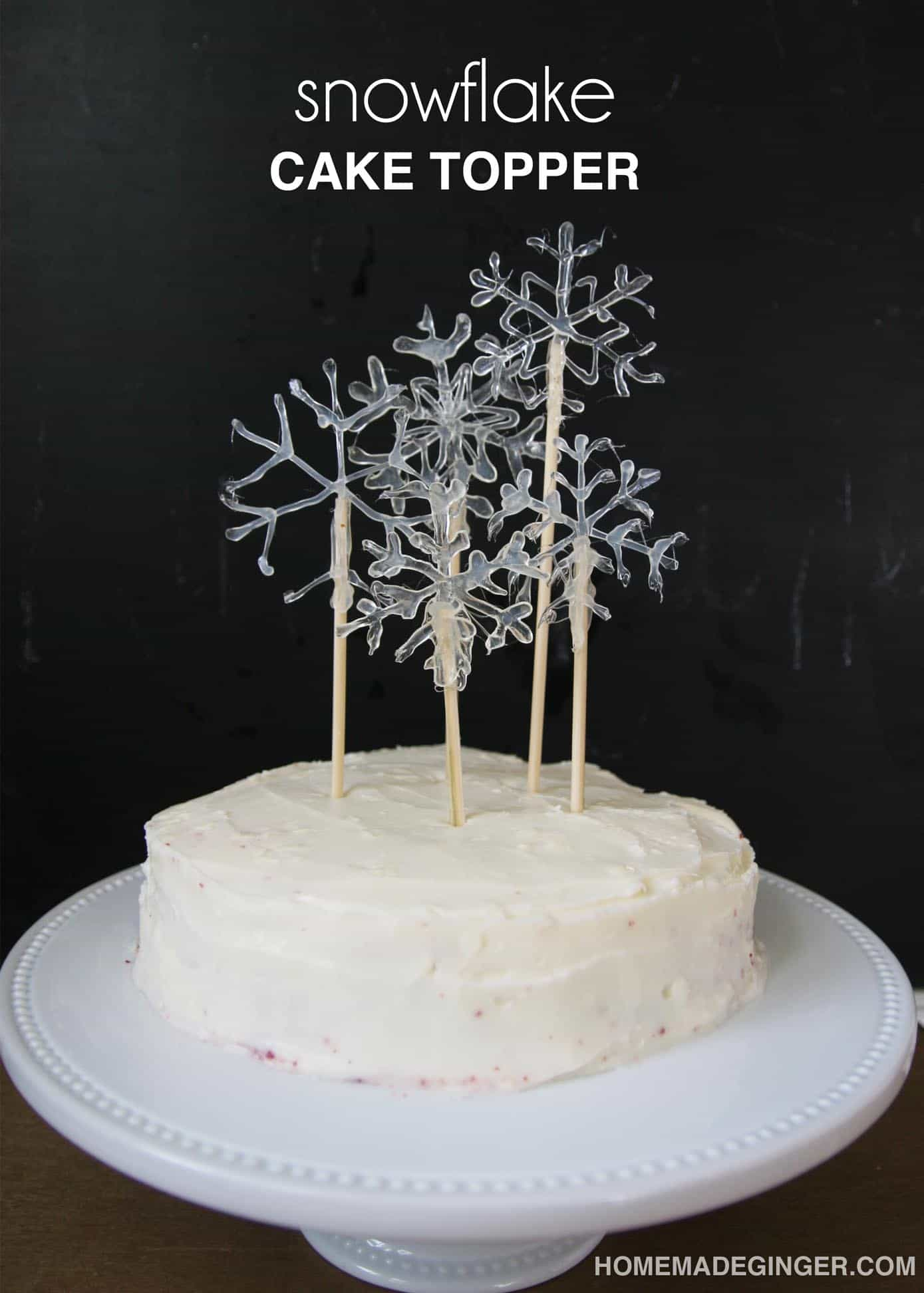 diy wedding cake decor make a snowflake cake topper diycandy 13629