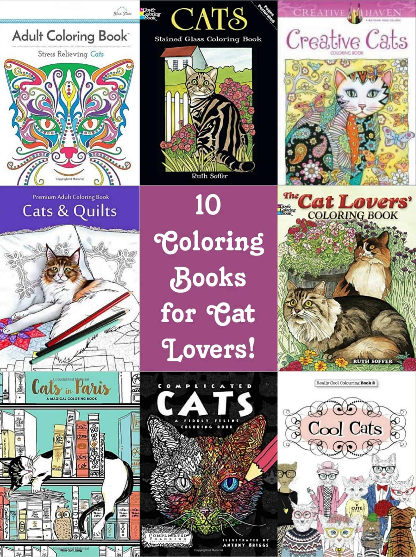 Cat Coloring Books for Feline Lovers - DIY Candy