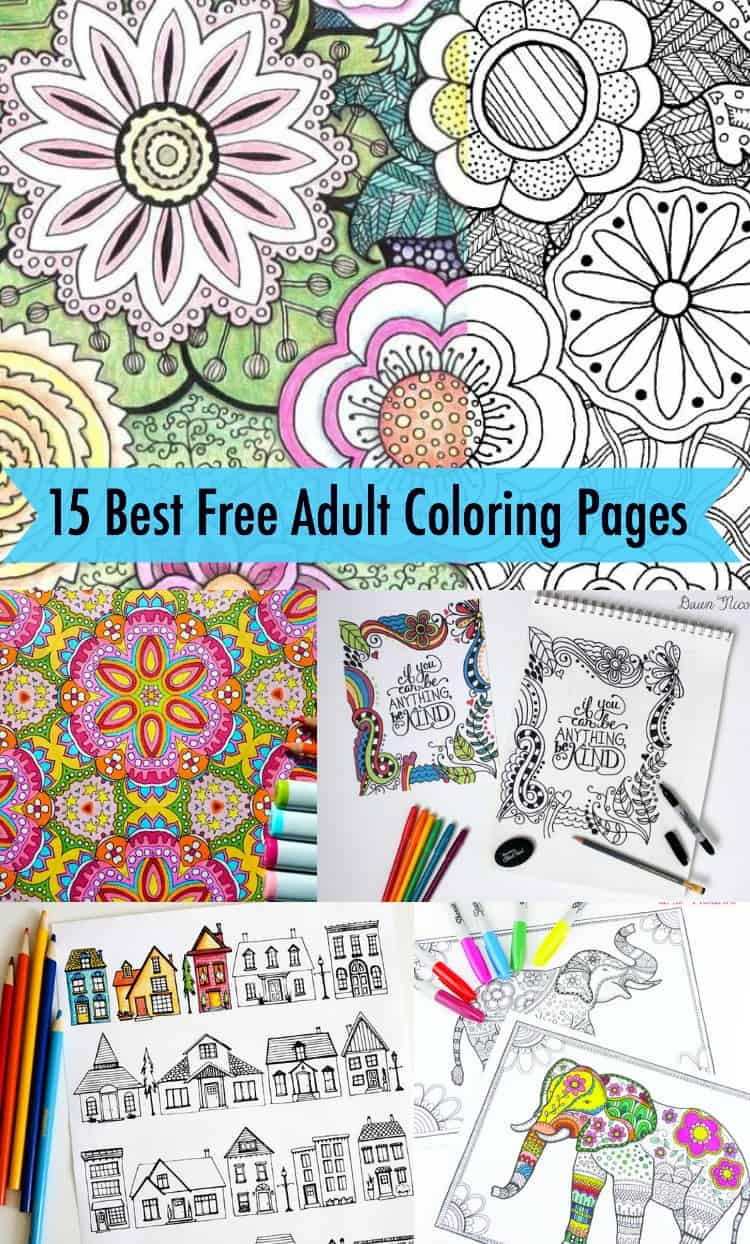 15 Favorite FREE Adult Coloring Pages - DIY Candy