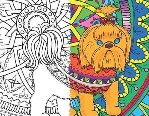 10 Dog Themed Coloring Books For Adults
