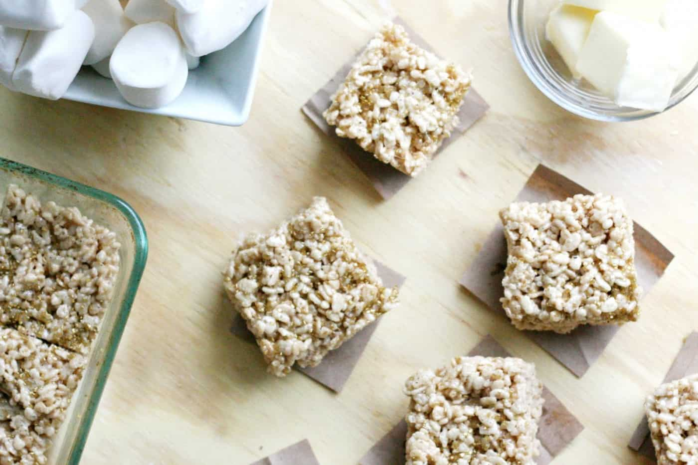If you are looking for the best rice krispie treats recipe you've ever had, this one with brown butter and sea salt takes the cake. It's amazing!