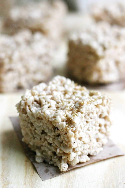 Rice Krispie treats with sea salt