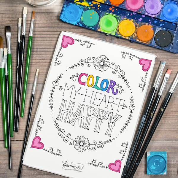 Color my heart happy by Dawn Nicole