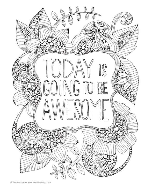 Today is going to be awesome free coloring page