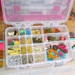 Figuring how to organize any craft supplies can be daunting . . . here are my top tips for organizing jewelry supplies so you can use them with ease!
