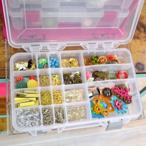 Organizing jewelry making supplies