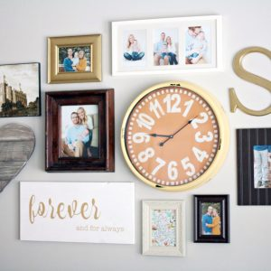 """Add this easy """"forever and always"""" wall art decor piece to an existing gallery wall - it's simple yet makes a big statement! Customize in any color."""