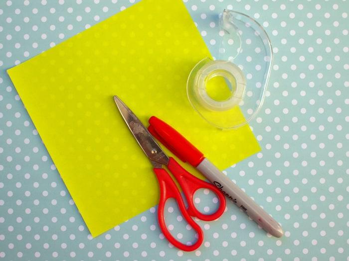 Origami bookmark - materials
