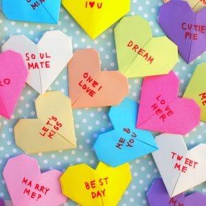 Origami Bookmark: Page Corner Heart