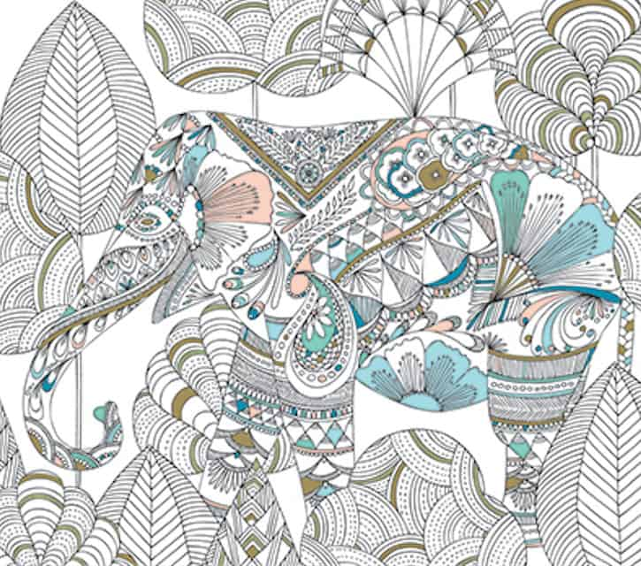 if you love animals youll love this roundup of coloring books for grown - Coloring Page Elephant Design