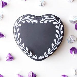 Recycled Chalkboard Valentine Tin