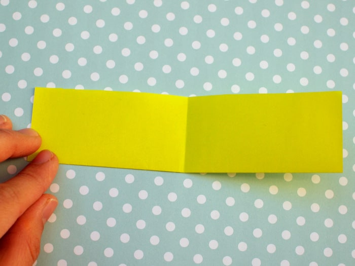 Origami bookmark - Step Four