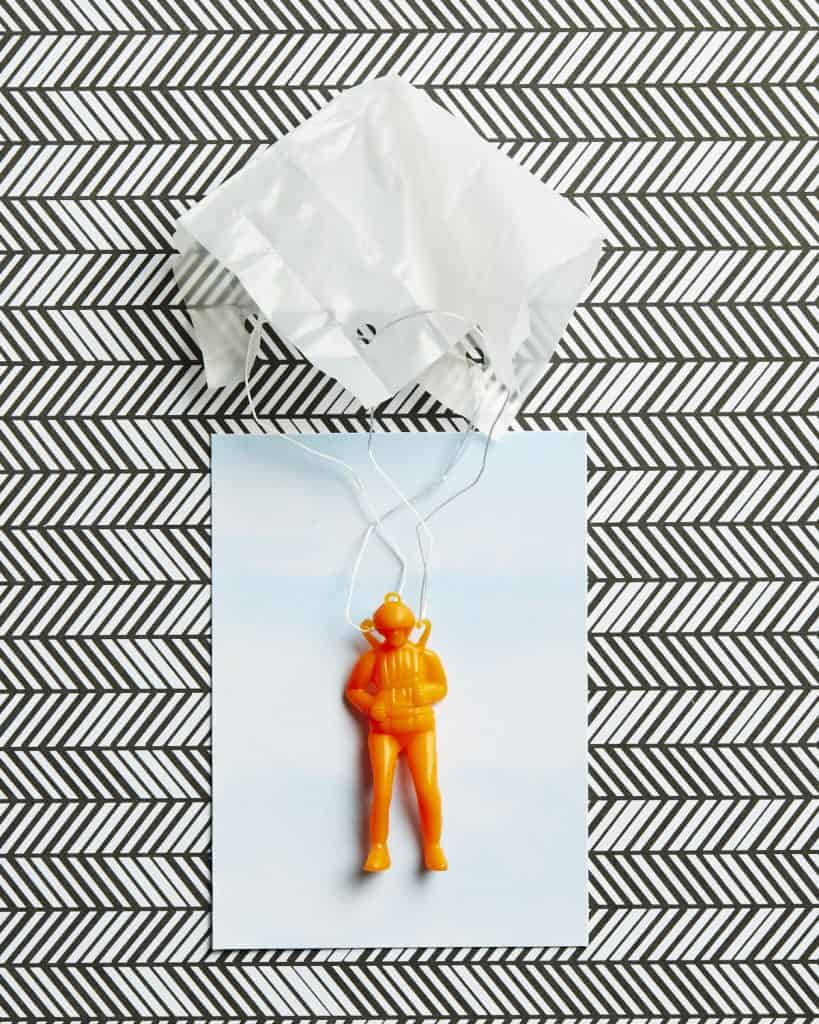 Parachuter on Paper