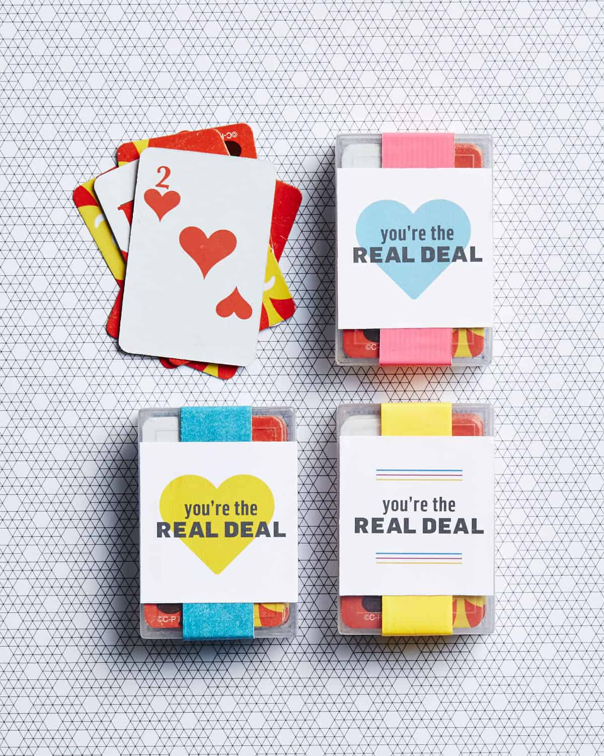 Playing Card Valentine for kids with a free printable