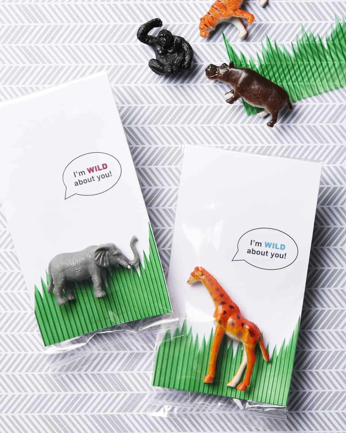Make Zoo Animal Valentines with a free printable