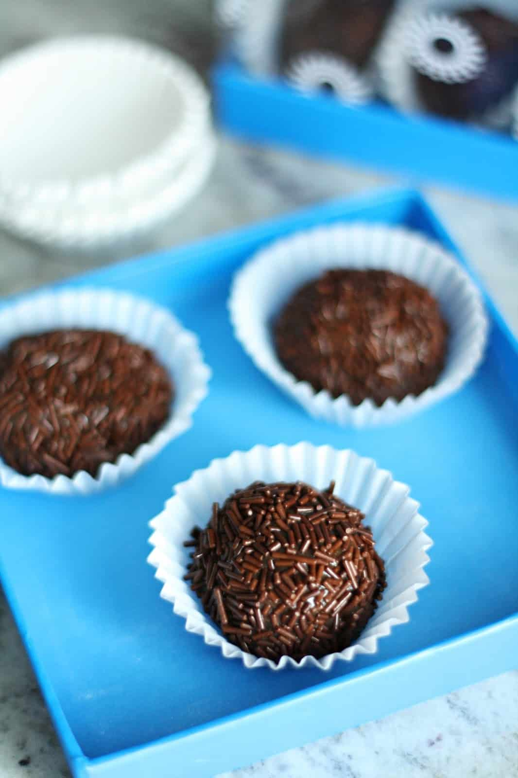 to make delicious brigadeiros - they are Brazilian chocolate truffles ...