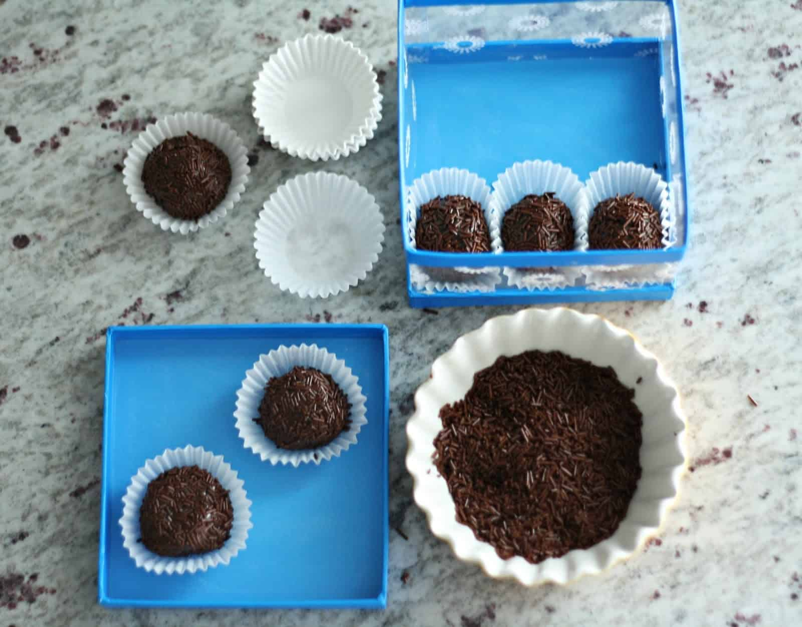 Learn how to make delicious brigadeiros - they are Brazilian chocolate truffles that will melt in your mouth. And they are so easy!