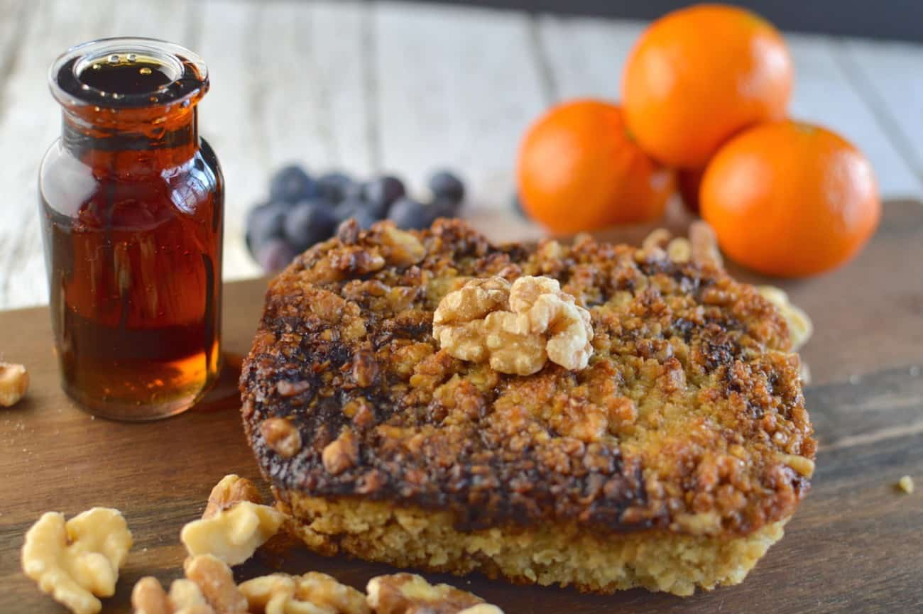 Maple Oatmeal Bread with Roasted Walnuts