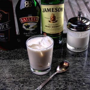 Four-Ingredient Festive Irish White Russian C...